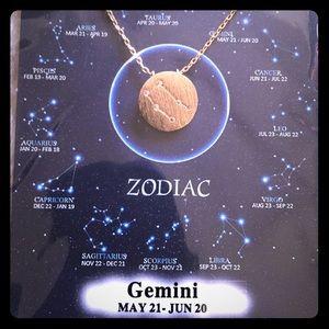 NWT New Handmade Zodiac Necklace Charm. Gemini